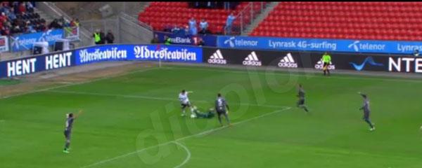 挪威足球场项目,采用的是德彩光电n系列球场屏n-120d(p12.